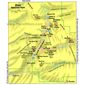 Map - Zion National Park