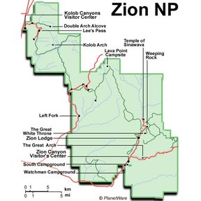 Map - Zion National Park Overview