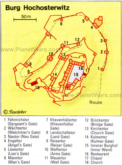 Burg Hochosterwitz - Floor plan map