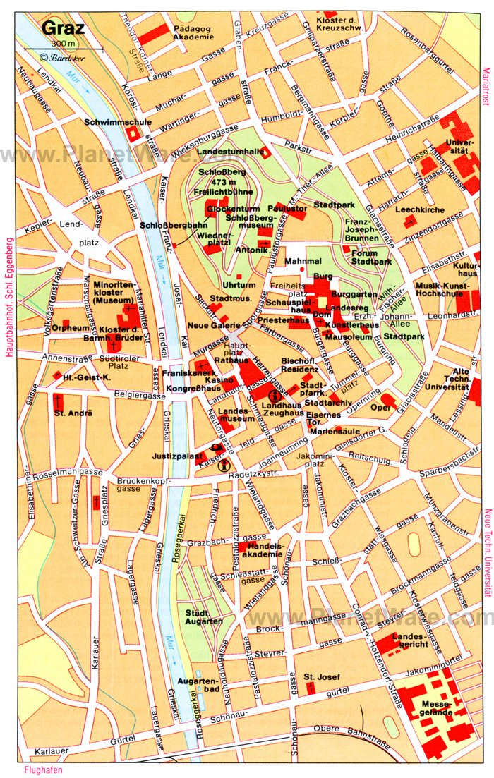 Top Tourist Attractions In Graz Easy Day Trips PlanetWare - Graz austria map