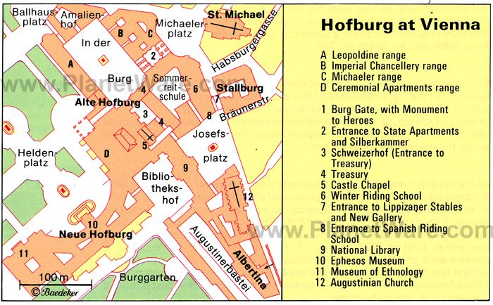 Hofburg at Vienna - Floor plan map