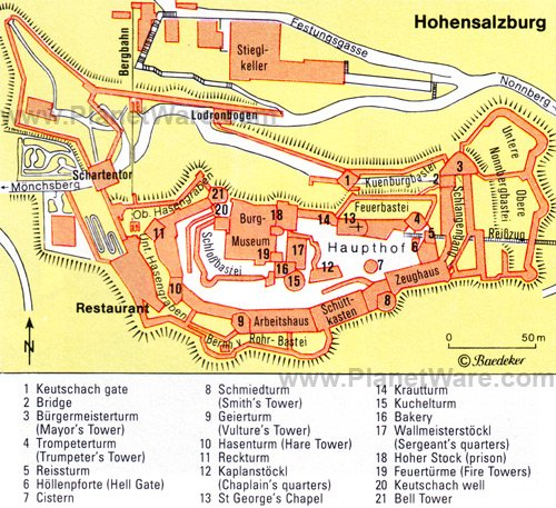 Hohensalzburg - Floor plan map