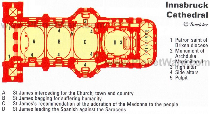 Innsbruck Cathedral - Floor plan map