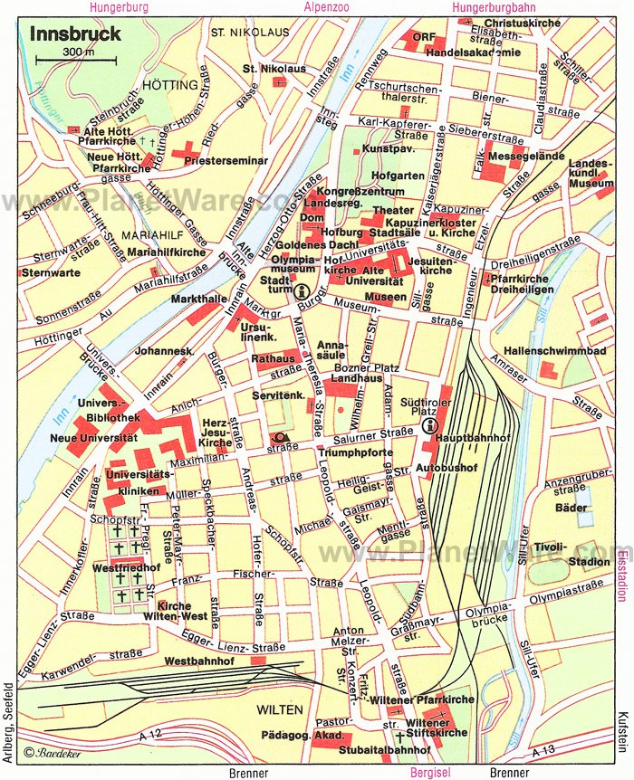 Innsbruck Map - Tourist Attractions