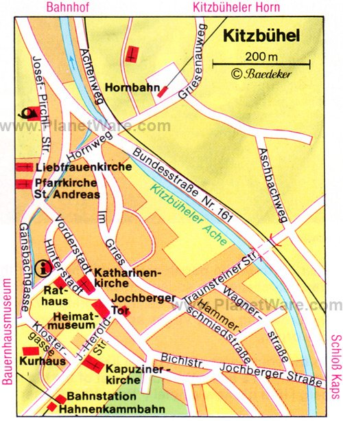Kitzbühel Map - Tourist Attractions