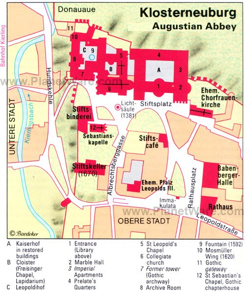 Klosterneuburg Augustian Abbey - Floor plan map