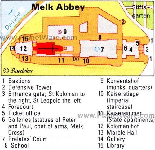 Melk Abbey - Floor plan map