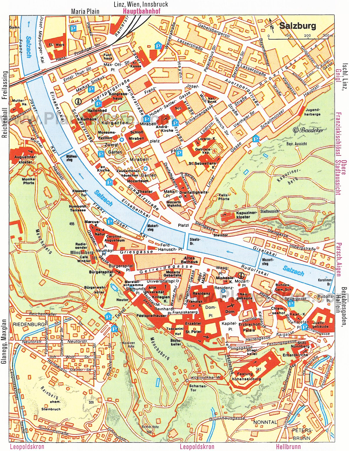 Salzburg Map - Tourist Attractions