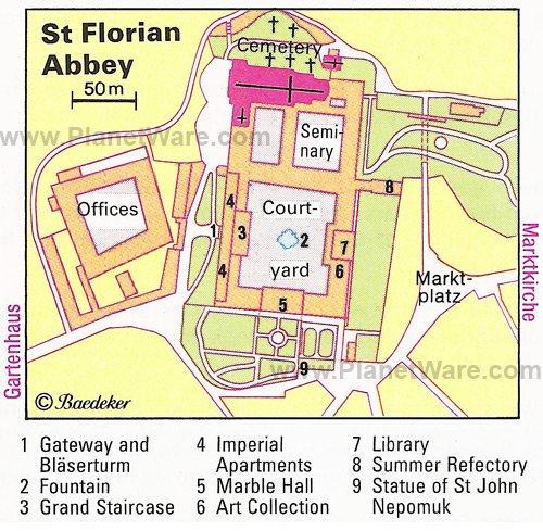 St Florian Abbey - Floor plan map