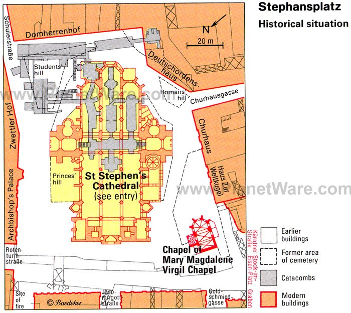 Stephensplatz historical situation - Floor plan map