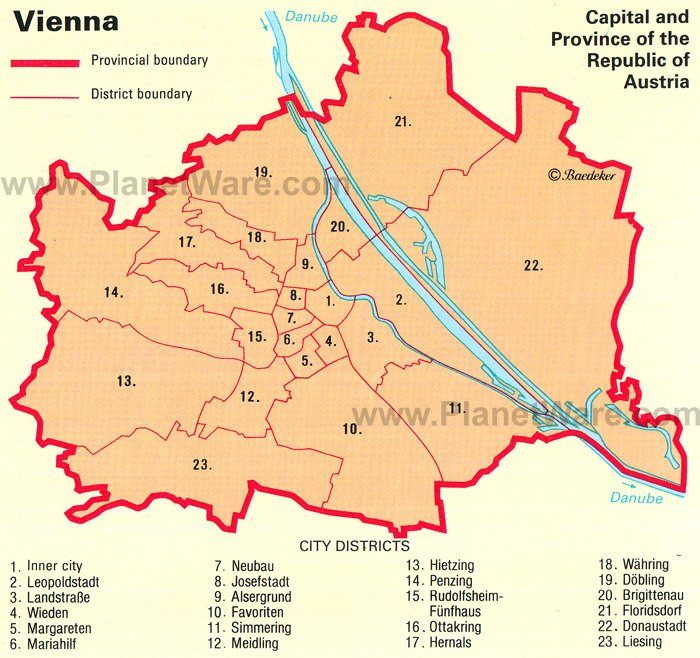 Images and Places Pictures and Info vienna austria map
