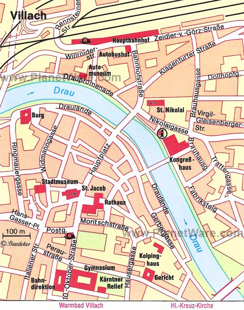 Villach Map - Tourist Attractions