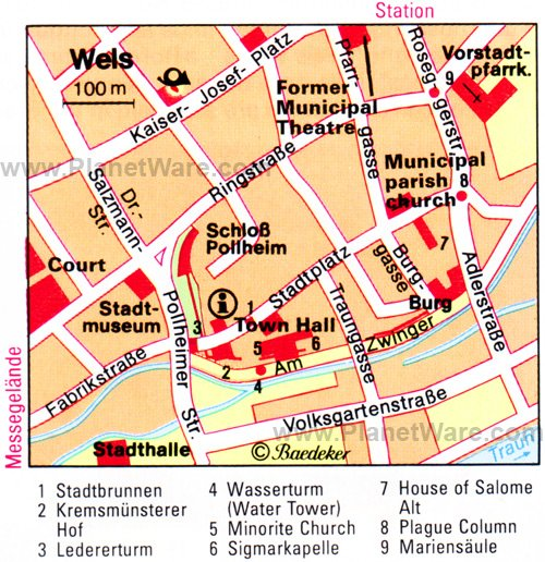 Wels Map - Tourist Attractions