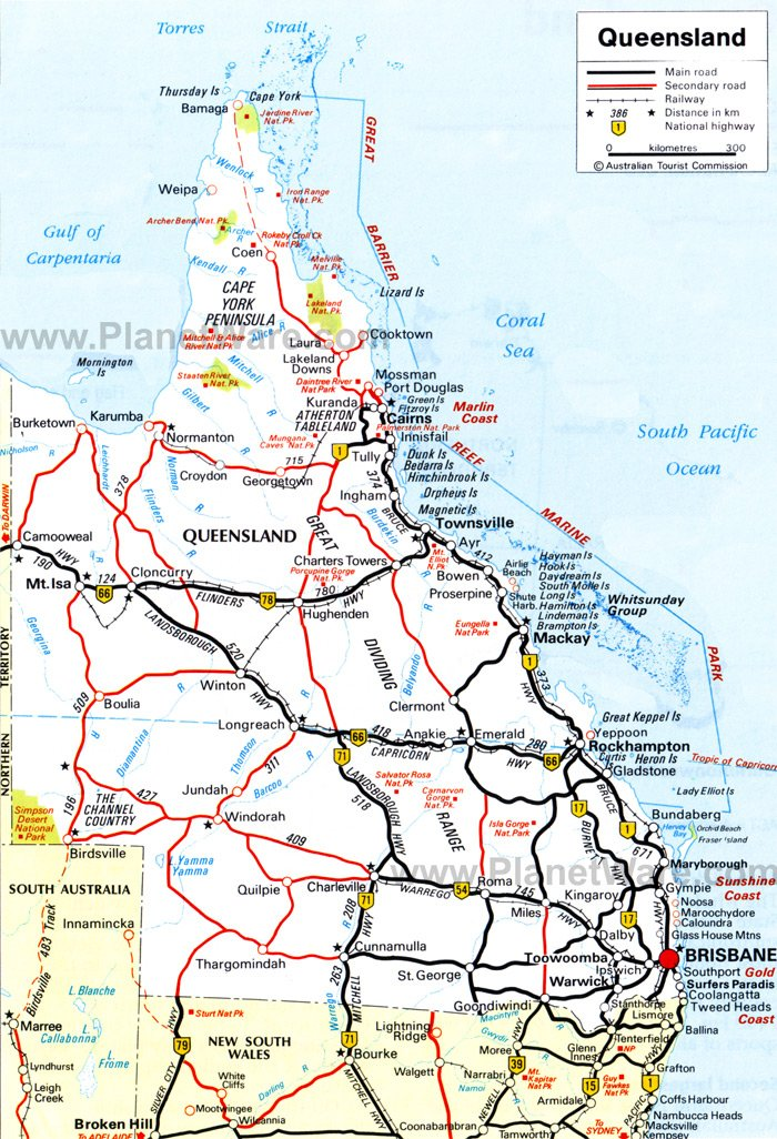 TopRated Tourist Attractions In Queensland PlanetWare - Map australia queensland