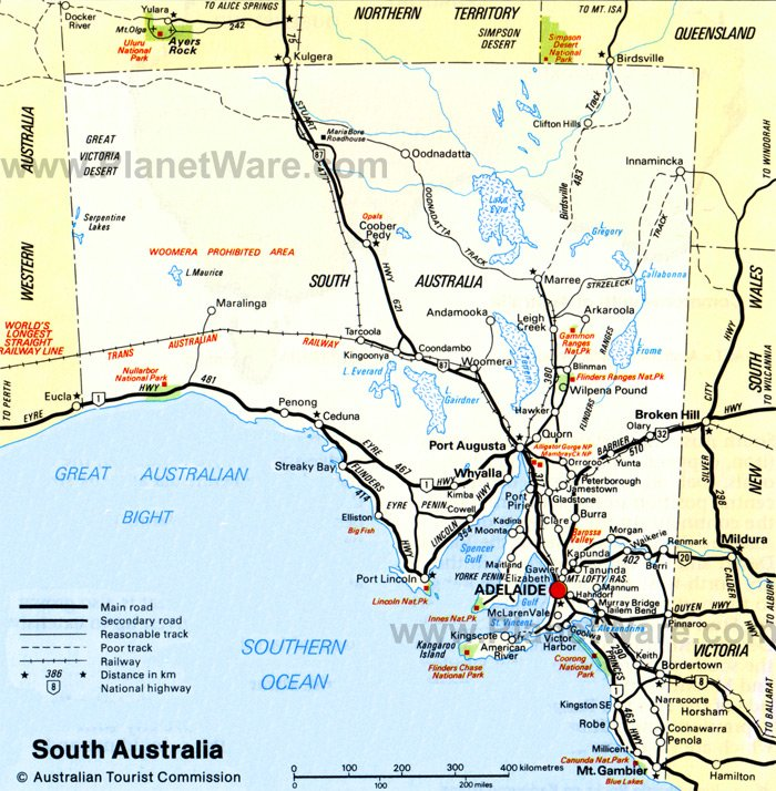 Map Adelaide Australia