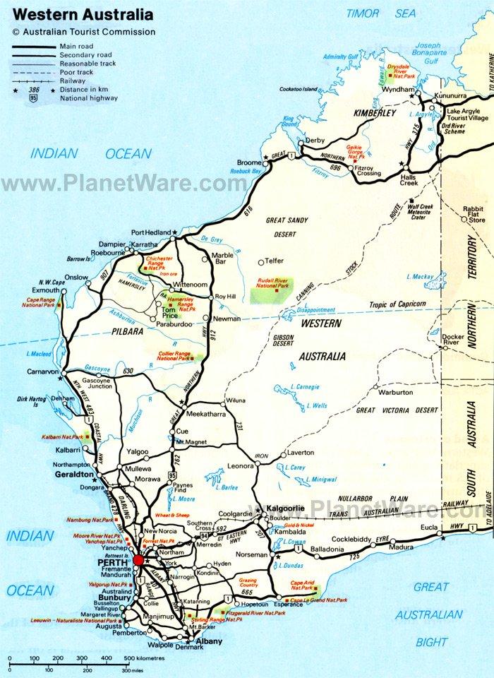 Perth Australia Mapa