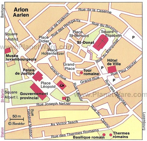 Arlon Map - Tourist Attractions