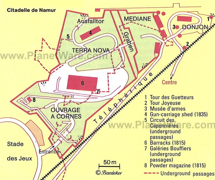 Citadelle de Namur - Floor plan map