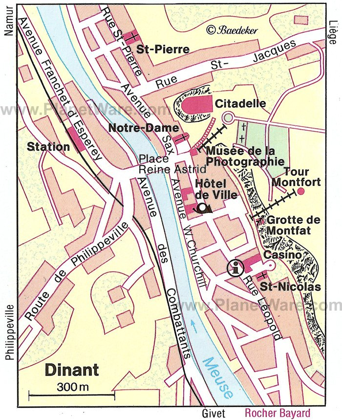 Dinant Map - Tourist Attractions
