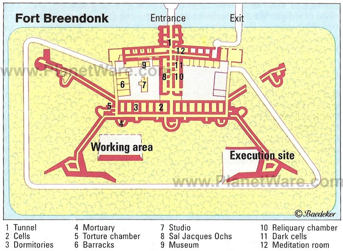 Fort Breendonk Map - Tourist Attractions