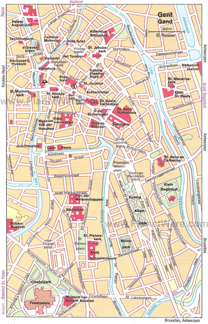 Ghent Map - Tourist Attractions