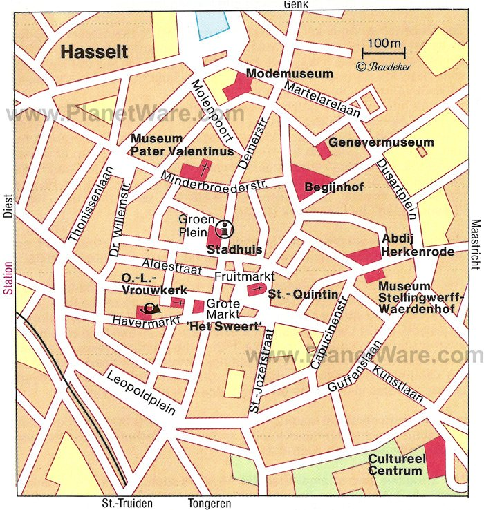 Hasselt Map - Tourist Attractions