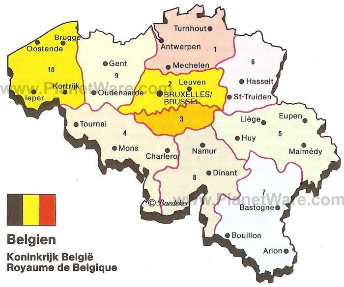 Map of Kingdom of Belgium PlanetWare