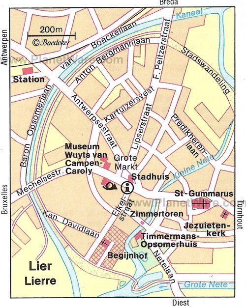 Lier Map - Tourist Attractions