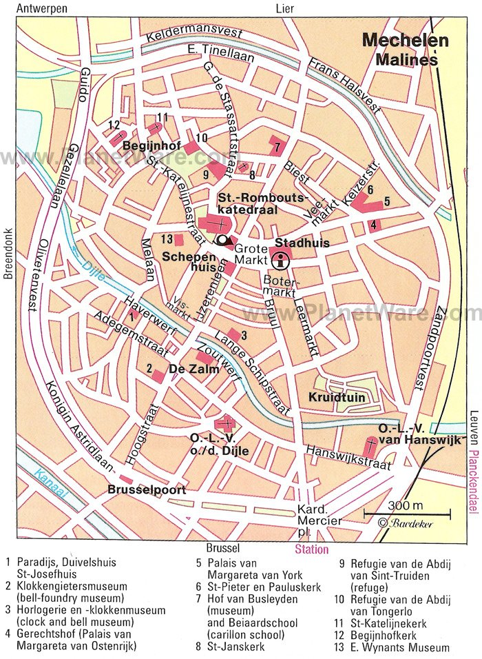 Mechelen Map - Tourist Attractions