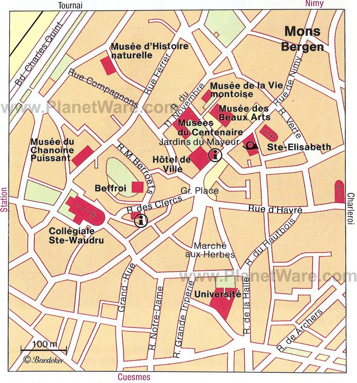 Mons Map - Tourist Attractions