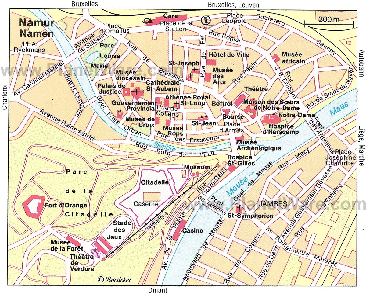 Namur Map - Tourist Attractions