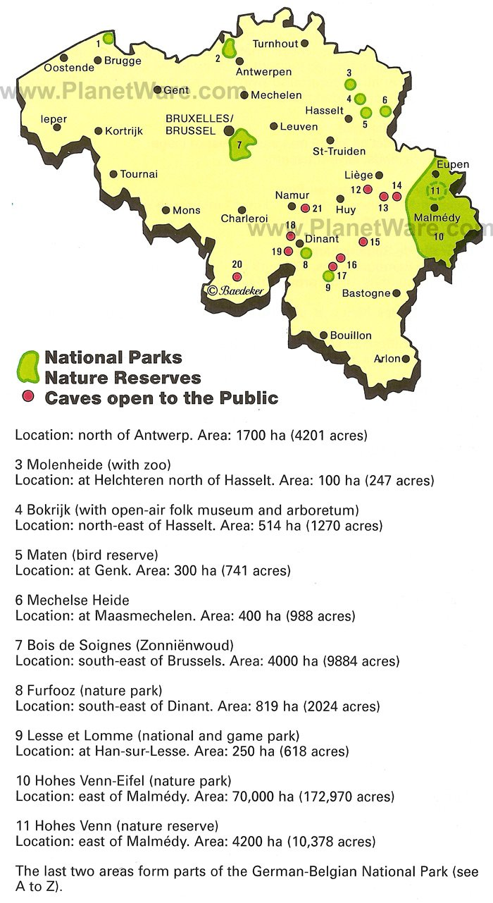 National Parks and Natural Reserves Map