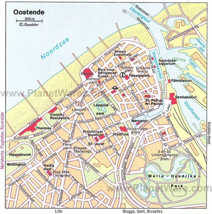 Oostende Map - Tourist Attractions