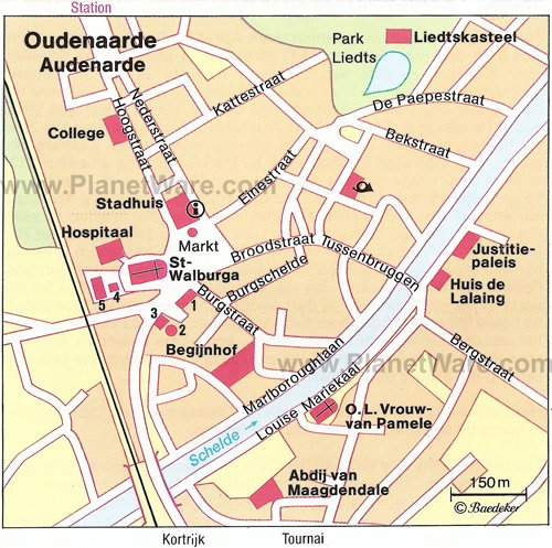 Oudenaarde Map - Tourist Attractions