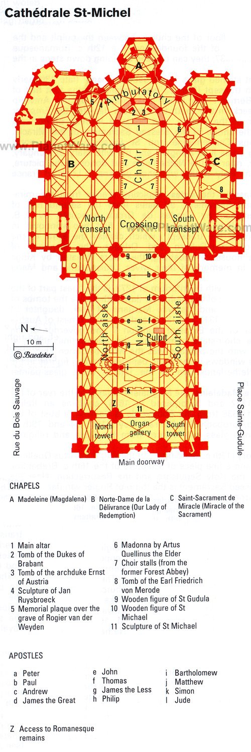 St Michael's Cathedral - Floor plan map