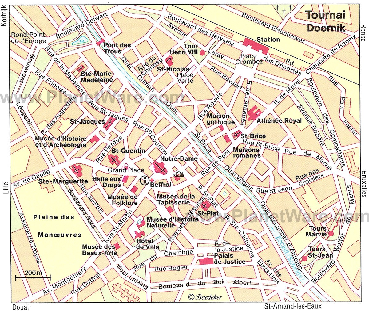 Tournai Map - Tourist Attractions