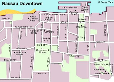 Nassau Downtown - Floor plan map