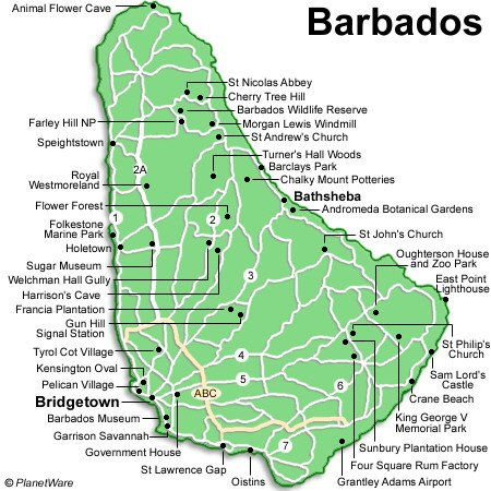 Cartes des Barbades  Maps of Barbados