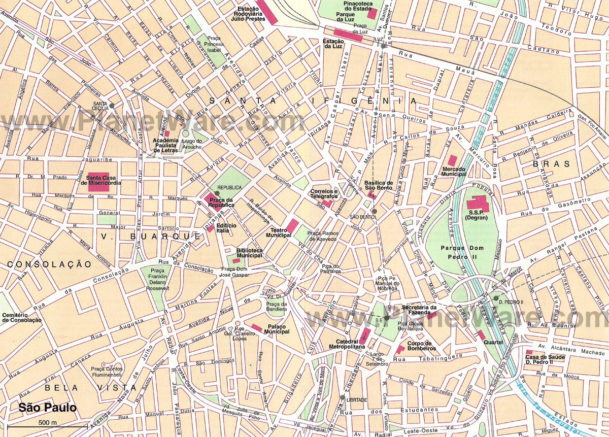 São Paulo (Downtown) Map - Tourist Attractions