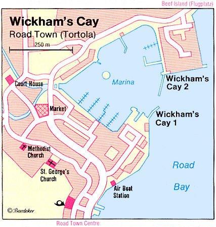 Roadtown Tortola British Virgin Islands Cruise Port of Call Road Town Map