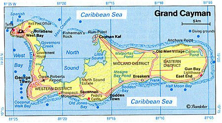 Rare image for printable map of grand cayman