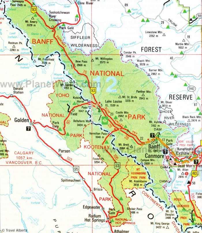 Tourist Map Of Banff Canada 14 Top Rated Tourist Attractions in Banff National Park | PlanetWare