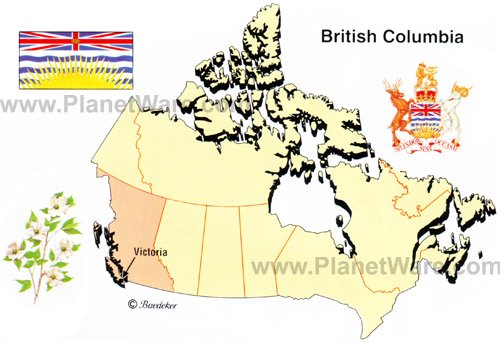 The Province of British Columbia is the western most province in Canada and