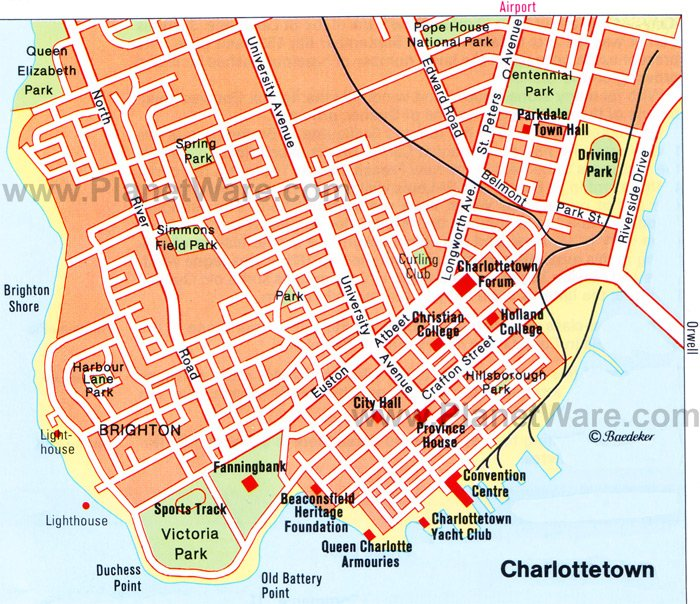 Charlottetown Prince Edward Island Canada Cruise Port of Call – Canada Tourist Attractions Map