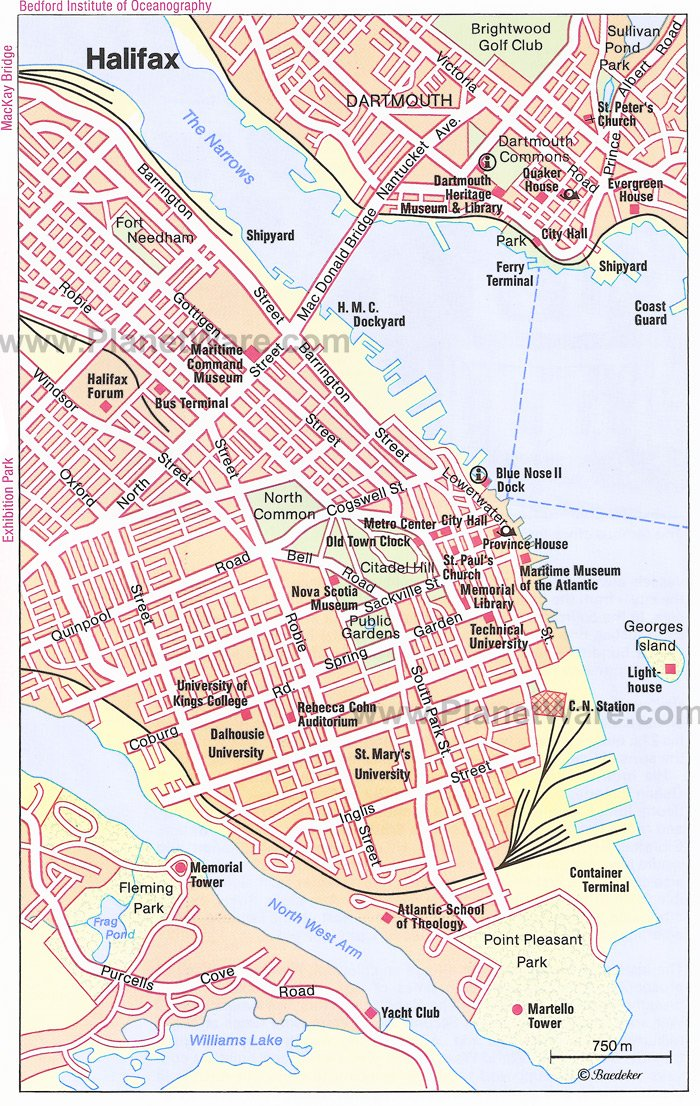 Halifax Canada Port of Call – Tourist Attractions Map In Canada