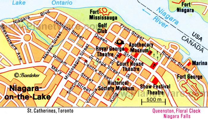 Niagara-on-the-Lake Map - Tourist Attractions