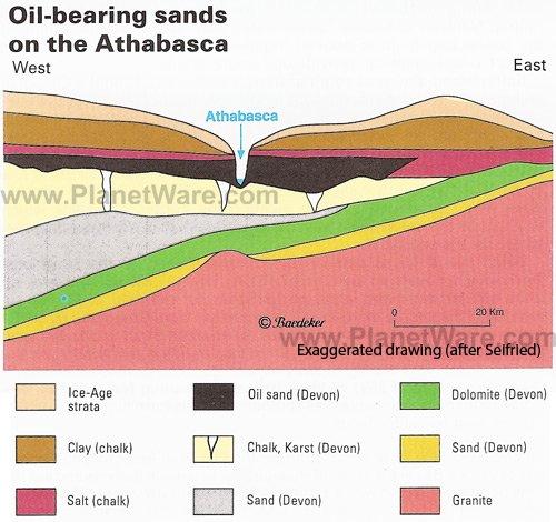 Athabasca Oil Sands Map Athabasca Oil Sands Map