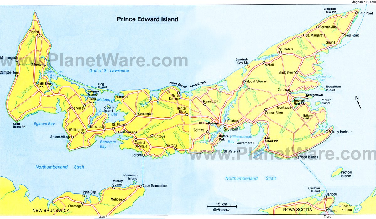 prince edward island map  tourist attractions.  toprated tourist attractions on prince edward island  planetware