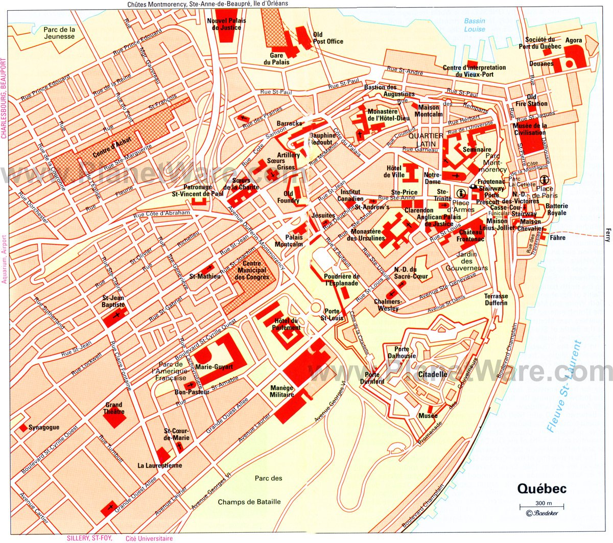 Quebec City Map - Tourist Attractions