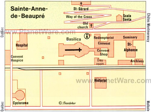 Sainte-Anne-de-Beaupre Map - Tourist Attractions